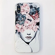 cheap -Case For Apple iPhone X / iPhone 6 Pattern Back Cover Tile / Flower Soft TPU for iPhone X / iPhone 8 Plus / iPhone 8