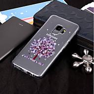 Недорогие Чехлы и кейсы для Galaxy S7 Edge-Кейс для Назначение SSamsung Galaxy S9 Plus / S9 IMD / Прозрачный / С узором Кейс на заднюю панель дерево Мягкий ТПУ для S9 / S9 Plus / S8 Plus