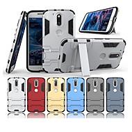 preiswerte Handyhüllen-Hülle Für Motorola G4 Plus mit Halterung Rückseite Solide Hart PC für Moto G4 plus / Moto G4 Play / MOTO G4