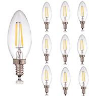 voordelige LED-gloeilampen-10 stuks 2 W 180 lm E14 LED-gloeilampen C35 2 LED-kralen COB Decoratief Warm wit / Koel wit 220-240 V