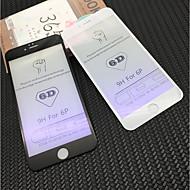Недорогие Защитные плёнки для экрана iPhone-Защитная плёнка для экрана для Apple iPhone 6s Plus / iPhone 6 Plus Закаленное стекло 1 ед. Защитная пленка для экрана Уровень защиты 9H / Фильтр синего света / 3D закругленные углы