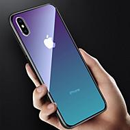 Недорогие Кейсы для iPhone 8 Plus-Кейс для Назначение Apple iPhone X / iPhone 8 Полупрозрачный Кейс на заднюю панель Градиент цвета Твердый Закаленное стекло для iPhone X / iPhone 8 Pluss / iPhone 8