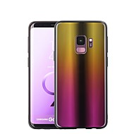 Недорогие Чехлы и кейсы для Galaxy S8-Кейс для Назначение SSamsung Galaxy S9 Plus / S9 Покрытие / Зеркальная поверхность Кейс на заднюю панель Градиент цвета Твердый Закаленное стекло для S9 / S9 Plus / S8 Plus
