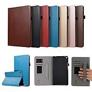 お買い得  携帯電話ケース-ケース 用途 Huawei MediaPad T3 8.0 カードホルダー / スタンド付き / 磁石バックル フルボディーケース ソリッド ハード PUレザー のために Huawei MediaPad T3 8.0