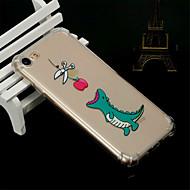 Недорогие Кейсы для iPhone 8 Plus-Кейс для Назначение Apple iPhone X / iPhone 8 Защита от удара / Прозрачный / Полупрозрачный Кейс на заднюю панель Животное Мягкий ТПУ для iPhone X / iPhone 8 Pluss / iPhone 8
