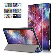 お買い得  携帯電話ケース-ケース 用途 Lenovo Tab 4 10 Plus / Tab 4 10 スタンド付き / 磁石バックル フルボディーケース 油絵 ハード PUレザー のために Lenovo Tab 4 10 Plus / Lenovo Tab 4 10