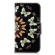 Недорогие Кейсы для iPhone 8 Plus-Кейс для Назначение Apple iPhone X / iPhone 8 Plus Кошелек / Бумажник для карт / со стендом Чехол Бабочка Твердый Кожа PU для iPhone X / iPhone 8 Pluss / iPhone 8