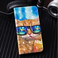 Недорогие Чехлы и кейсы для Galaxy S9 Plus-Кейс для Назначение SSamsung Galaxy S9 Plus / S9 Кошелек / Бумажник для карт / со стендом Чехол Кот Твердый Кожа PU для S9 / S9 Plus / S8 Plus