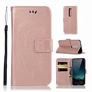 preiswerte Handyhüllen-Hülle Für Nokia Nokia X6 Geldbeutel / Kreditkartenfächer / mit Halterung Ganzkörper-Gehäuse Eule Hart PU-Leder für Nokia X6
