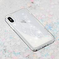 Недорогие Кейсы для iPhone 8 Plus-Кейс для Назначение Apple iPhone X / iPhone 8 Plus Движущаяся жидкость / Прозрачный / С узором Кейс на заднюю панель Перья Мягкий ТПУ для iPhone X / iPhone 8 Pluss / iPhone 8