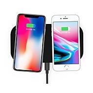 abordables Cargadores para iPod-cargador eléctrico inalámbrico estándar del qi de la aleación del cinc del cojín de carga nueve nueve nt8 para iphone8 / x