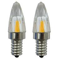 お買い得  LED キャンドルライト-2pcs 3 W 150-200 lm E12 LEDキャンドルライト 1 LEDビーズ COB 装飾用 温白色 / クールホワイト 220-240 V / 110-120 V