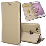 お買い得  携帯電話ケース-ケース 用途 Huawei Nova 2 / Nova カードホルダー / スタンド付き / フリップ フルボディーケース ソリッド ハード PUレザー のために Nova 2 Plus / Nova 2 / Nova