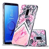 Недорогие Чехлы и кейсы для Galaxy S8-Кейс для Назначение SSamsung Galaxy S9 Plus / S9 Прозрачный / С узором Кейс на заднюю панель Цветы / Мрамор Мягкий ТПУ для S9 / S9 Plus / S8 Plus
