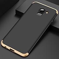 billige Etuier / covers til Galaxy A-modellerne-Etui Til Samsung Galaxy A6 (2018) Belægning Bagcover Ensfarvet Hårdt PC for A6 (2018)