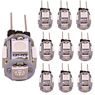 お買い得  -1w g4 led 2ピン電球5 smd 5050家庭用照明rv車暖かい/冷たい白/ bule /黄色/赤/緑の装飾ランプ(10個)