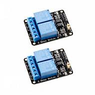 お買い得  Arduino 用アクセサリー-2pcs 2チャンネルdc 5vリレーモジュール、オプトカプラ低レベルトリガ拡張ボードarduino uno r3 mega 2560用