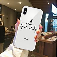 מגן עבור Apple iPhone X / iPhone 8 שקוף / תבנית כיסוי אחורי לב רך TPU ל iPhone X / iPhone 8 Plus / iPhone 8