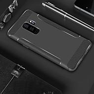 Недорогие Чехлы и кейсы для Galaxy S9 Plus-Кейс для Назначение SSamsung Galaxy S9 Plus / S9 Защита от удара / Матовое Кейс на заднюю панель Однотонный / Полосы / волосы Мягкий ТПУ для S9 / S9 Plus / S8 Plus