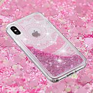 Недорогие Кейсы для iPhone 8-Кейс для Назначение Apple iPhone X / iPhone 8 Plus Движущаяся жидкость / Прозрачный / С узором Кейс на заднюю панель Кружева Печать Мягкий ТПУ для iPhone X / iPhone 8 Pluss / iPhone 8