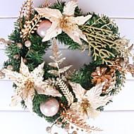abordables Decoraciones de Celebraciones y Fiestas-Guirnaldas Vacaciones El plastico Redondo Novedades Decoración navideña