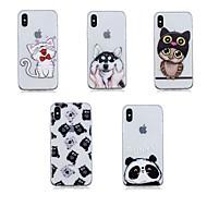 Недорогие Кейсы для iPhone 8 Plus-Кейс для Назначение Apple iPhone X / iPhone 8 Plus Прозрачный Кейс на заднюю панель Животное Мягкий ТПУ для iPhone X / iPhone 8 Pluss / iPhone 8