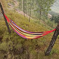 abordables Muebles de Acampada-Hamaca para camping Al aire libre Portátil, Ligeras Lona, Nailon para Camping y senderismo / Viaje - 2 Personas Melocotón