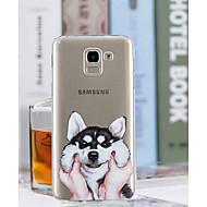 Недорогие Чехлы и кейсы для Galaxy J-Кейс для Назначение SSamsung Galaxy J8 / J6 Прозрачный / С узором Кейс на заднюю панель С собакой Мягкий ТПУ для J8 / J7 (2017) / J6