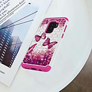 Недорогие Чехлы и кейсы для Galaxy S-Кейс для Назначение SSamsung Galaxy S9 Plus / S9 Защита от удара / Стразы / С узором Кейс на заднюю панель Бабочка Твердый ПК для S9 / S9 Plus / S8 Plus
