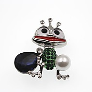 cheap -Women's 3D Brooches - Imitation Pearl Animal Cartoon Brooch Gold / Silver For Daily
