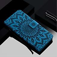 Недорогие Чехлы и кейсы для Galaxy S9-Кейс для Назначение SSamsung Galaxy S9 Plus / S9 Кошелек / Бумажник для карт / со стендом Чехол Цветы Твердый Кожа PU для S9 / S9 Plus / S8 Plus