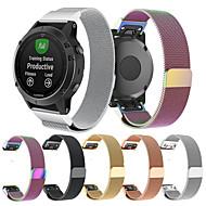 Недорогие Аксессуары для смарт-часов-Ремешок для часов для Fenix 5 Garmin Миланский ремешок Нержавеющая сталь Повязка на запястье