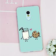 お買い得  携帯電話ケース-ケース 用途 Xiaomi Mi 6 / Mi 5s パターン バックカバー 食べ物 ソフト TPU のために Xiaomi Redmi Note 4 / Xiaomi Redmi Note 3 / Xiaomi Redmi 4A