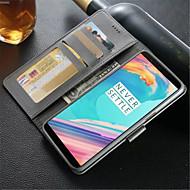 preiswerte Handyhüllen-Hülle Für OnePlus 5 / OnePlus 5T Geldbeutel / Kreditkartenfächer / Stoßresistent Ganzkörper-Gehäuse Solide Hart PU-Leder für One Plus 5 / OnePlus 5T