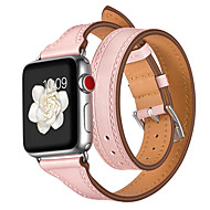voordelige -Horlogeband voor Apple Watch Series 4/3/2/1 Apple Sportband Echt leer Polsband