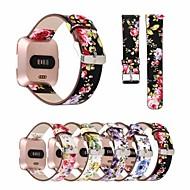 Недорогие Аксессуары для смарт-часов-Ремешок для часов для Fitbit Versa Fitbit Кожаный ремешок Натуральная кожа Повязка на запястье