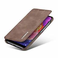 お買い得  携帯電話ケース-ケース 用途 Huawei P20 / P20 Pro / P20 lite ウォレット / カードホルダー / 耐衝撃 フルボディーケース ソリッド ハード PUレザー のために Huawei P20 / Huawei P20 Pro / Huawei P20 lite
