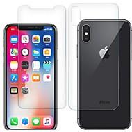 Недорогие Защитные плёнки для экрана iPhone-Защитная плёнка для экрана для Apple iPhone X Закаленное стекло 2 штs Защитная пленка для экрана и задней панели HD / Уровень защиты 9H / 2.5D закругленные углы