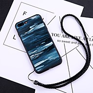 Недорогие Кейсы для iPhone 8-Кейс для Назначение Apple iPhone X / iPhone 8 Plus Защита от пыли Кейс на заднюю панель Масляный рисунок Твердый Закаленное стекло для iPhone X / iPhone 8 Pluss / iPhone 8
