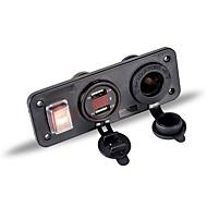 Недорогие Автоэлектроника-Автомобиль Автомобильное зарядное устройство 2 USB порта для 5 V