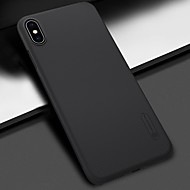 Недорогие Кейсы для iPhone 8-Кейс для Назначение Apple iPhone XS / iPhone XS Max Защита от удара / Матовое Кейс на заднюю панель Однотонный Твердый ПК для iPhone XS / iPhone XR / iPhone XS Max