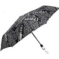 Недорогие Защита от дождя-Ткань Все Солнечный и дождливой Складные зонты