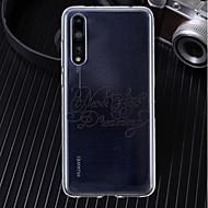 preiswerte Handyhüllen-Hülle Für Huawei P20 / P20 Pro Ultra dünn / Transparent / Muster Rückseite Wort / Satz Weich TPU für Huawei P20 / Huawei P20 Pro / Huawei P20 lite