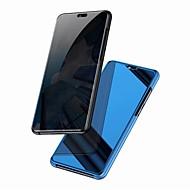 お買い得  携帯電話ケース-ケース 用途 Huawei Mate 10 pro / Mate 10 lite ミラー / フリップ フルボディーケース ソリッド ハード PC のために Mate 10 / Mate 10 pro / Mate 10 lite