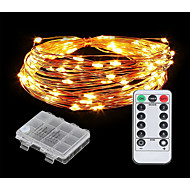 cheap -10m String Lights 100 LEDs Warm White / Cold White New Design / Decorative / Adorable AA Batteries Powered 1 set