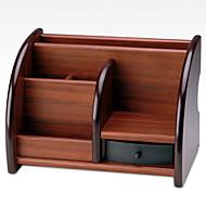 abordables Almacenamiento de escritorio-Madera Rectángulo Nuevo diseño Casa Organización, 1pc Organizadores de Escritorio