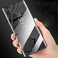 Недорогие Чехлы и кейсы для Galaxy Note 8-Кейс для Назначение SSamsung Galaxy Note 9 со стендом / Зеркальная поверхность / Флип Чехол Однотонный Твердый Кожа PU для Note 9 / Note 8
