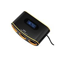 Недорогие Автомобильные зарядные устройства-Автомобиль Прикуриватель / Автомобиль USB зарядное гнездо 2 USB порта для 12 V
