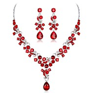 cheap -Women's Multicolor Crystal Classic Jewelry Set - Flower Fashion Include Bridal Jewelry Sets White / Red / Blue For Wedding Party