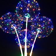 abordables Decoraciones de fiesta-Globos Redondas Luz LED Cumpleaños Decoraciones del partido 1pc